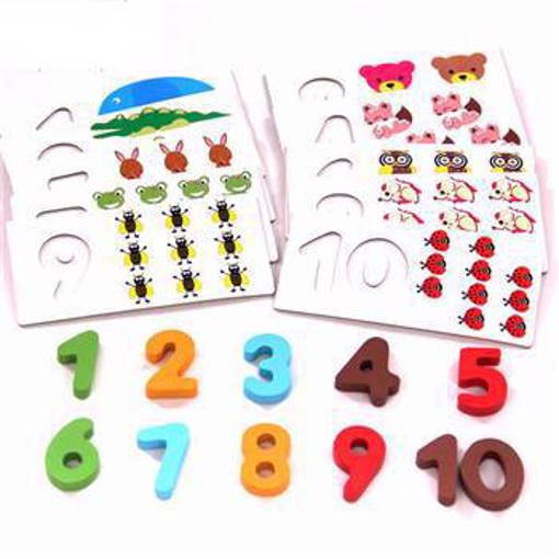 Picture of Wooden Number Counting Puzzle