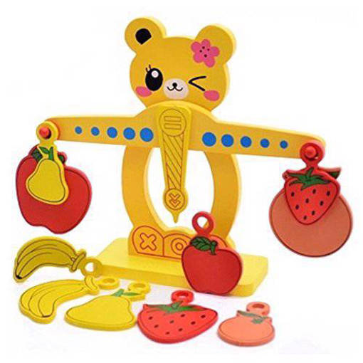 Picture of Wooden Bear Balance Scale