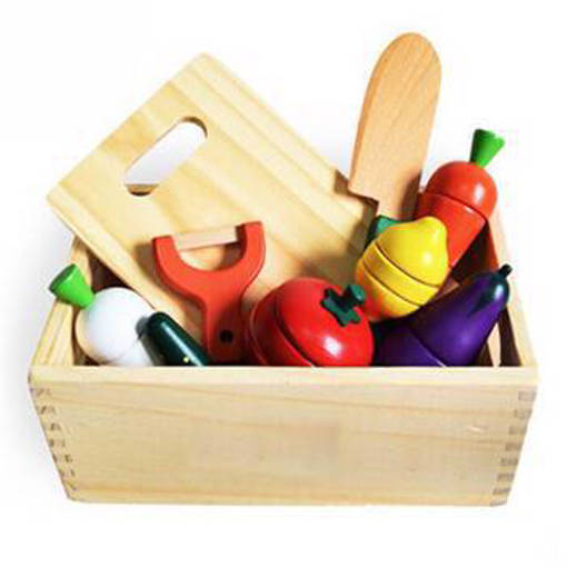 Picture of Wooden Assorted Food Set