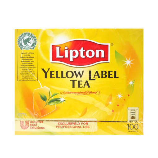 Picture of TEA LIPTON(100'SXBOX)YELLOW