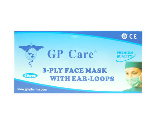 Picture of MASK - GP CARE 3PLY FACE MASK,EAR-LOOP(50'S)