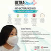 Picture of ULTRAMask (Official Store) K2 3-Ply Anti-Bacterial Kids Face Mask (Age 9 to 12) - (Wholesale/bulk purchase - MOQ 500 pieces) - White