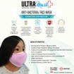 Picture of ULTRAMask (Official Store) K2 3-Ply Anti-Bacterial Kids Face Mask (Age 9 to 12) - (Wholesale/bulk purchase - MOQ 500 pieces) - Light Pink