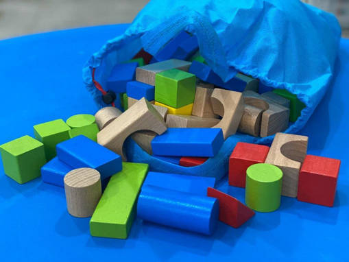 Picture of Wooden Building Blocks (100 Pcs) Playset for Early Childhood Education