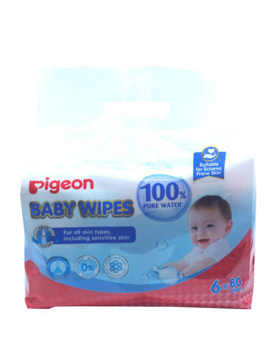 Picture of BABY WIPES REFILL 80S (4BX6PS) PIGEON 100%