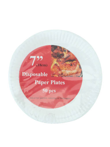 """Picture of PAPER PLATE (20X50'S) 7""""-18CM"""